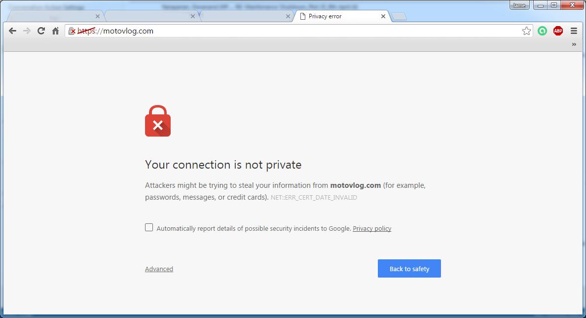 Image result for privacy error https